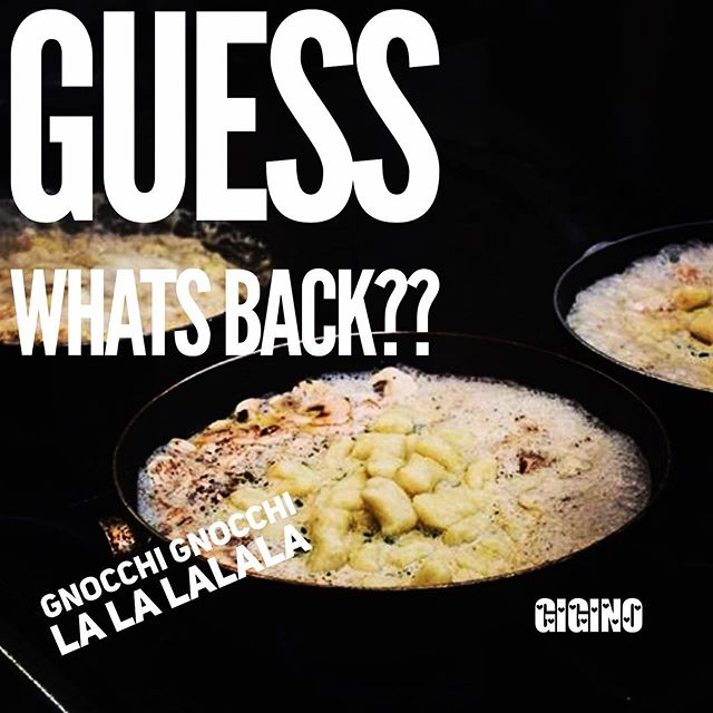 We couldn't cope anymore with all the questions! Back on the menu tonight LE BELLE GNOCCHI